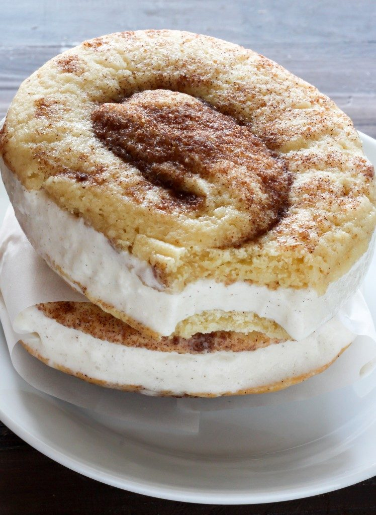 Ice Cream Sandwiches: Cinnamon Roll