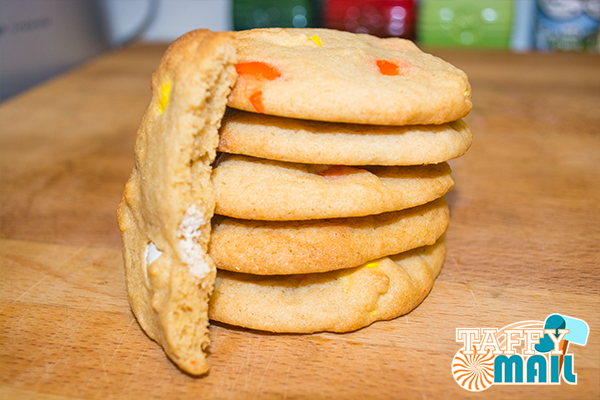 Candy Corn M&M Cookies Finished