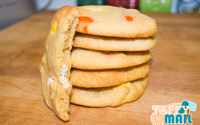 Candy Corn M&Ms Cookies