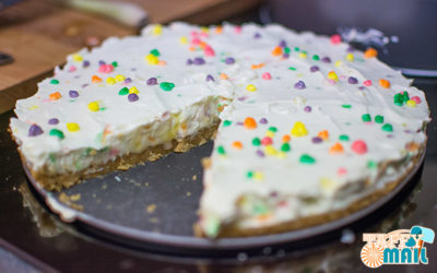 Wonka Nerds No Bake Cheesecake