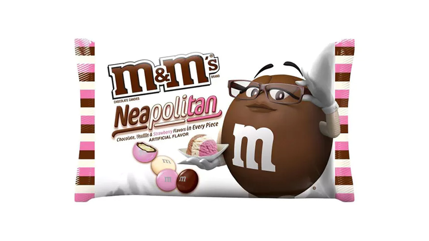Neapolitan M&Ms in the UK